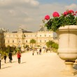 View of Luxembourg garden in Paris — Stock Photo