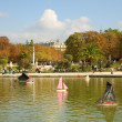 Royalty-Free Stock Photo: Toy boats in the Luxembourg Garden