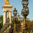 Parisian Pont Alexandre III — Stock Photo