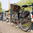 Bicycles, symbols of Amsterdam — Stockfoto #1070462