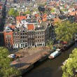 Bird view of Amsterdam - Stock Photo