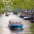 Tourist activities in Amsterdam — Stock Photo