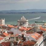 Bird view of central Lisbon — Stock Photo #1076049