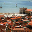 Bird view of central Lisbon — Stockfoto