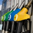 Different types of fuel dispensers - Foto Stock