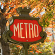 Parisian metro sign — Stockfoto