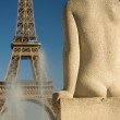 Stock Photo: Statue of womat Trocadero