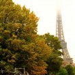 Rainy autumn day in Paris — Foto Stock