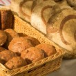 Freshly made bread at the market — Stock Photo