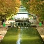 Beautiful canal Saint-Martin — Stock Photo #1077450