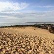 view of the dune of pyla in france — Stock Photo