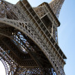 Wide angle view of the Eiffel Tower — Stock Photo #1078052