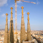 Towers of Sagrada Familia — Stock Photo