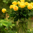 Beautiful bunch of yellow roses — Stock Photo