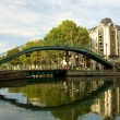 Pedestrian bridge on Saint-Martin canal — Stock Photo #1078302