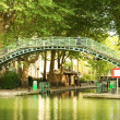 Pedestrian bridge on Saint-Martin canal — Stock Photo #1078309