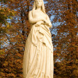 Statue of St Genevieve, patron of Paris - Stock Photo