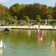 Toy boats in the Luxembourg Garden — Stock Photo
