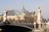 Pont Alexandre III and the Grand Palais — Stock Photo