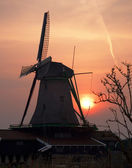 Picturesque old wind mill — Foto Stock