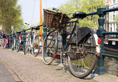Bicycles, symbols of Amsterdam — Stock Photo