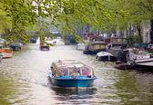 Actividades turísticas en amsterdam — Foto de Stock