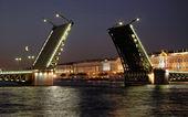 Puente del palacio. saint-petersburg, rusia — Foto de Stock