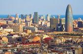 Torre agbar en barcelona — Foto de Stock