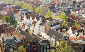 Bird view of central Amsterdam — Stock Photo