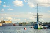 Legendarny krążownik avrora — Zdjęcie stockowe