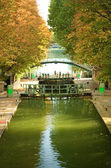 Beautiful canal Saint-Martin — Stock Photo