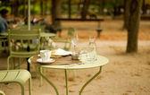 Calle café en el jardín de luxemburgo — Foto de Stock