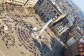 Bird's-eye view of Dam square — Stock Photo