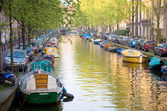 Canal of Amsterdam — Foto de Stock