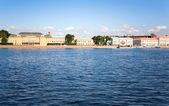 The Neva embankment — 图库照片