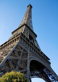 Wide angle view of the Eiffel Tower — Stock Photo