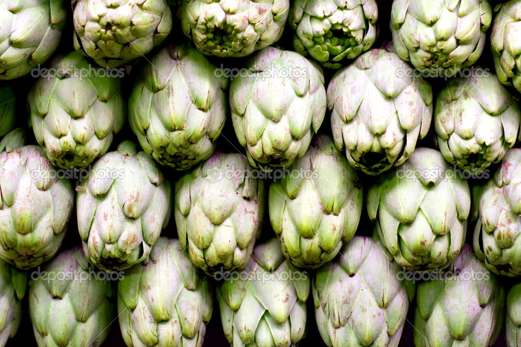 Artichokes background — Stock Photo #1078141