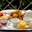 Tasty breakfast for two — Stock Photo #1565421