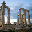 Temple of Poseidon on Sounion cape - Stock Photo