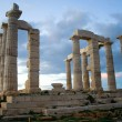 temple of poseidon on sounion cape — Stock Photo