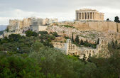 View of the Akropolis in Athens — Stock Photo