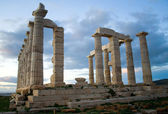 Temple of Poseidon on Sounion cape — Stock Photo