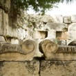 Closeup of old greek columns capitals — Stock Photo #1574129