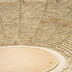 Ancient theater in Epidaurus, Greece — Stock Photo
