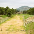 Old olympic stadium in  Epidaurus - Stock Photo