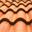 Stock Photo: Closeup of red tile roof