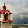 Greek little church by the road — Stock Photo
