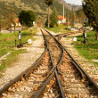 Rails of Diakofto-Kalavrita railway — Stock fotografie