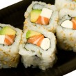 Stock Photo: California rolls on a plate