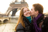 Happy loving couple in Paris — Foto de Stock